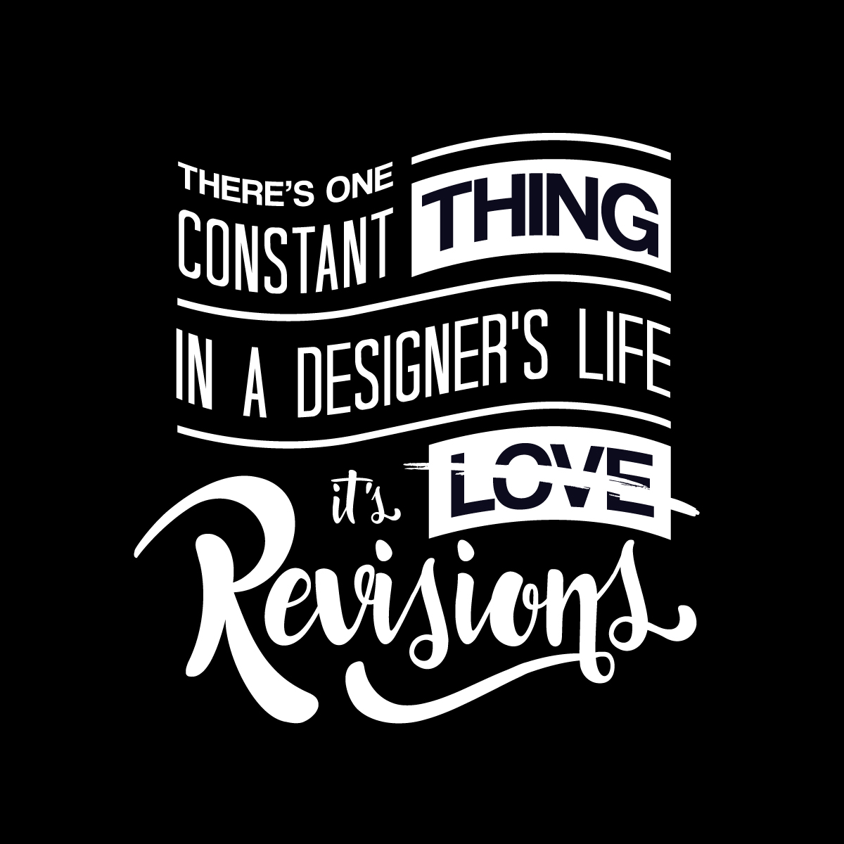 There's one constant thing in a designer's life, it's revisions.