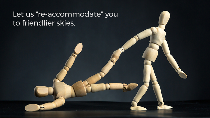 "Let Us ""re-accommodate"" you to friendlier skies."